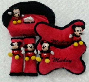 Bantal Mobil 3 in 1 Boneka MICKEY Ori Yelfo Merah
