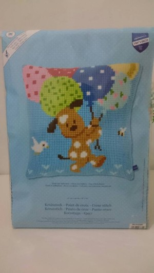 Pillow Cross Stich doggie Uk 40x40cm
