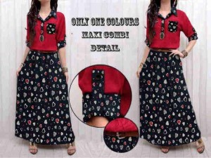 Maxi Combi Love/Maxi Dress/Longdress Wanita