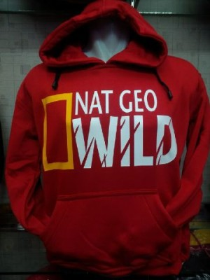 Jaket/Hoodie/Sweater National Geographic Wild Merah