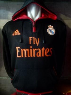 Jaket/Hoodie/Sweater Real Madrid Hitam