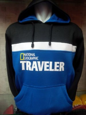 Jaket/Hoodie/Sweater National Geographic Hitam/Biru