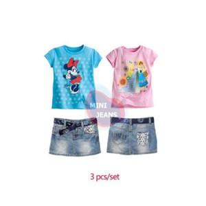 Setelan MJ Minnie & Frozen Set Jeans