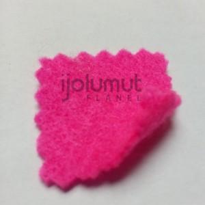 Bahan Kreasi Kerajinan Kain Flanel A7 Pink Cerah