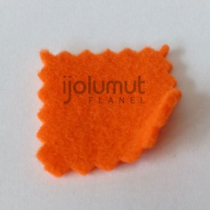 Bahan Kreasi Kerajinan Kain Flanel A22 Orange