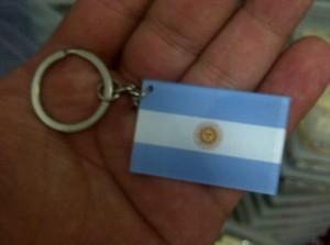 cinderamata gantungan kunci negara argentina