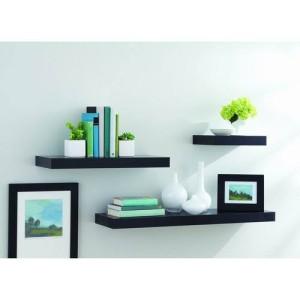 Floating Shelves 3 buah (pilihan warna)