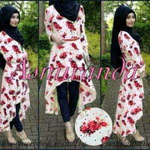 Gamis asmirandah / hijab asmirandah / baju muslim murah