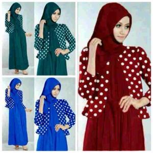 Gamis cardi 3in1 / hijab cardi 3in1 / baju gamis murah