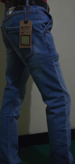 Celana Jeans Slim Fit Biru Muda NBX