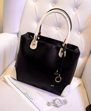 8903 TAS TANGAN HITAM HAND BAG WANITA IMPORT KOREA FORMAL GAUL MALL
