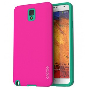 Araree Back Case for Samsung Galaxy Note 3 - Pink Green
