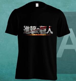 Kaos Shingeki no Kyojin (black)