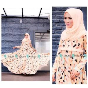 Busana Muslim Miska set (motif bulu) by fisura