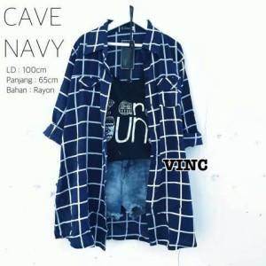 Kemeja Cave Navy