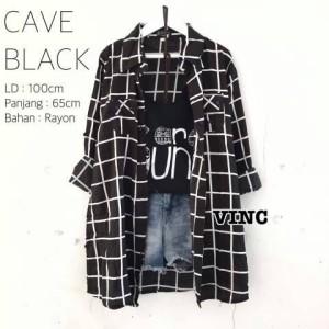 Kemeja Cave Black