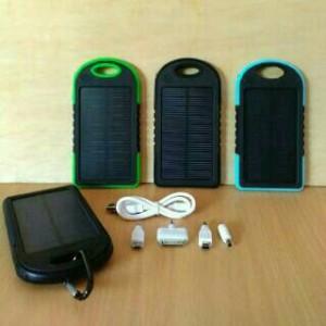 Powerbank solar cell + senter Tenaga Matahari