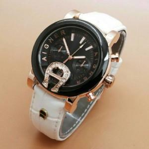 jam tangan aigner baridona white