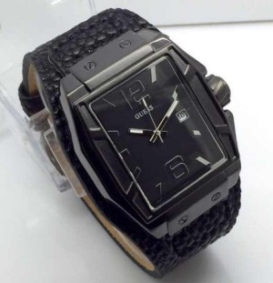jam tangan GUES date leather kw suprt