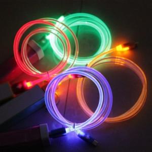Luminous Micro USB Cable LED Light kabel Data