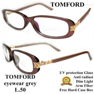 kacamata frame tomford super premium full set grey