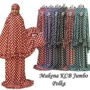 Mukena KCB Jumbo Polka Matt Jersey Exclusive.