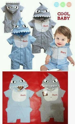 cool baby shark jumper romper sz 6 sd 24 bln