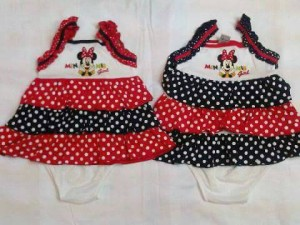 dress and cd minnie ruffle dottie. sz 6 sd 12 bln