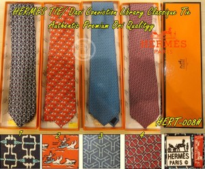 Dasi HERMES Pria Conviction Library Classique Tie Authentic Premium