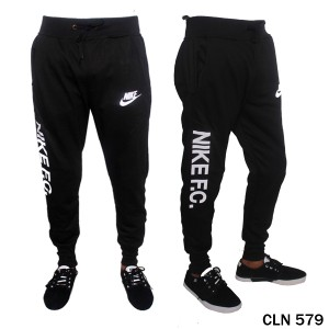 Jogger Pants Mens Baby Terry Hitam  CLN 579