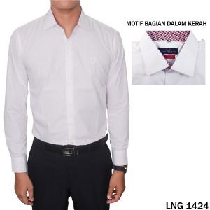 Kemeja Pria Kantoran Katun Import Putih  LNG 1424