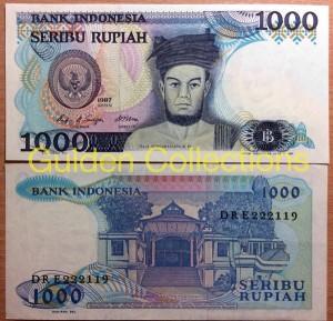 Uang Kuno 1000 Rupiah Tahun 1987 Sisingamangaraja