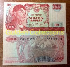 Uang Kuno 100 Rupiah tahun 1968 Seri Sudirman