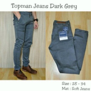 Celana Topman Jeans Dark Grey !
