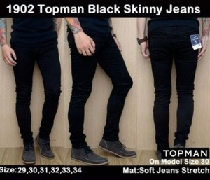 Celana Panjang Topman Black Skinny Jeans 1902 !