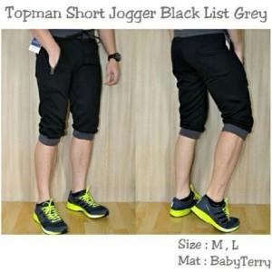 Celana Topman Short Jogger Black List Grey !
