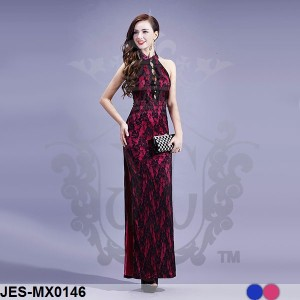 JES-MX0146 longdress cheongsam sexy import korea (gaun pesta import)