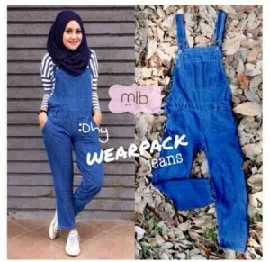Wearpack overall jeans celana