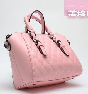 tas korea pink kulit elegan import
