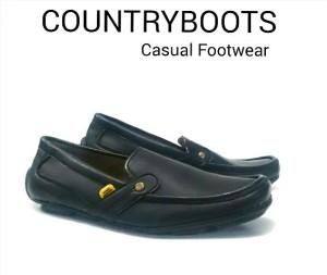 Sepatu murah countryboot slop hitam