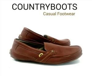 Sepatu murah countryboot slop coklat
