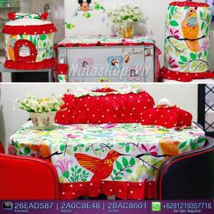 Jual Full Set Dapur motif Hummingbird Dotty cerry