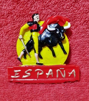 SOUVENIR MANCANEGARA MAGNET KULKAS SPANYOL