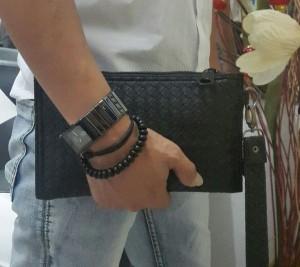 Mini Clutch Bag Motif Tikar warna Hitam terbaru
