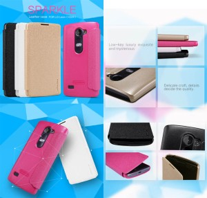 Nillkin Sparkle Leather Case LG Leon H340