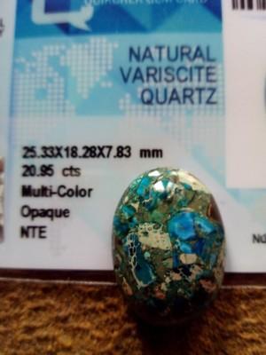 Mata cincin batu PHIRUS VARICHITE QUART biru ukuran besar