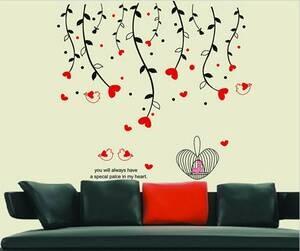 Ranting Salur Love AY828 - Stiker Dinding / Wall Sticker