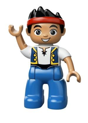 ORIGINAL PART OUT LEGO DUPLO - FIGURE JAKE ( NEVER LAND PIRATES )