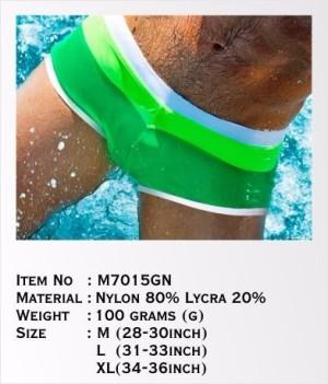 Australia Swimming Trunk Leaf Green M7015GN