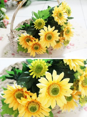 flower flowers artificial sun / bunga buatan plastik matahari hijau
